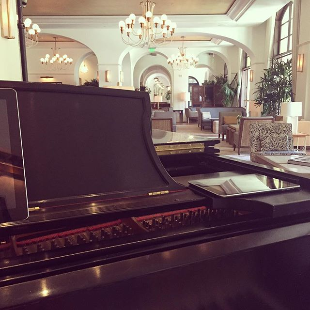 My new view on Sundays and Mondays!  #mommymusician #steinwayandsons #beverlyhills #montagehotel