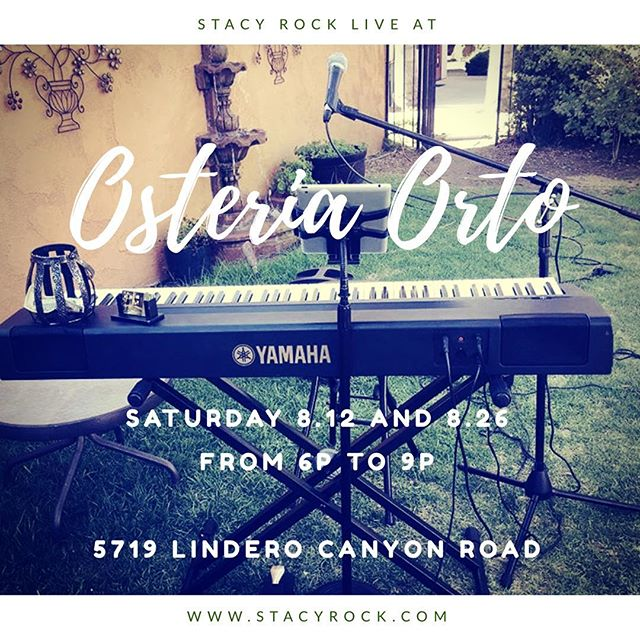 I play every Saturday at this beautiful place in Agoura Hills.  I'm off on the 19th for a private gig. Come any other Saturday for scrumptious Italian and an atmosphere full of lights, birds and bunnies. @osteriaorto #mommymusician #agourahills #italianfood #whattodoonsaturdaynight #beingcinderella
