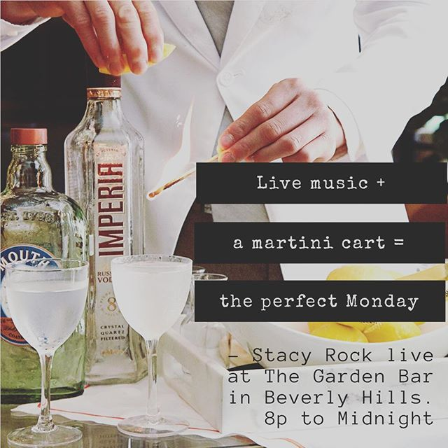 See you tonight at The Garden Bar from 8p to 12a!  #martinimonday #pianowoman #mommymusician #hustle #thegardenbar #beverlyhills #montagehotelbeverlyhills