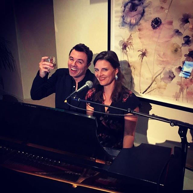 I'll be playing every Monday, Tuesday and Wednesday this week at The Garden Bar in The Montage.  Sometimes really cool things happen and I get to sing duets.  Come visit. You'll make the non-cool days so much 😎er.  Www.stacyrock.com for schedule.  #pianowoman #sethmcfarlane #beverlyhills